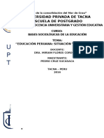 Educacion Peruana Situación y Perspetivas