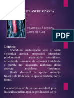 Spondilita Anchilozantă- Ionica