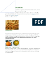 Orange Fruit Nutrition Facts