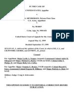 United States v. Henderson, C.A.A.F. (1999)