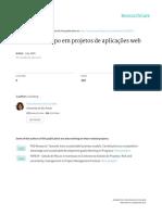 Gestao de Escopo Em Projetos de Aplicacoes Web