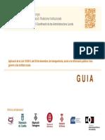 Transparencia AOC Guia de La Transparencia Gencat