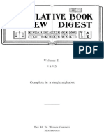 The Cumulative Book Review Digest, Volume 1, 1905 by Various