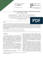 A Phase-field Simulation of Austenite to Ferrite Transformation Kinetics