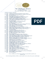 100years of the Pulitzer Prize