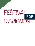 Festival d'Avignon PDF