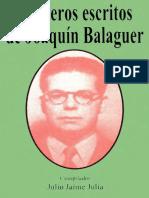 Julio Jaime Julia - Primeros Escritos de Joaquín Balaguer