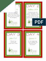 Jesse Tree Scripture Cards
