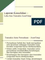 Laporan Konsolidasi – Laba Transaksi Aktiva Tetap