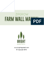 ZipGrow Farm Wall Manual - Bright Agrotech