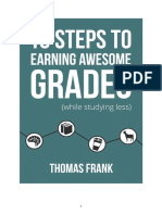 10 Steps to Earning Awesome (good) Grades