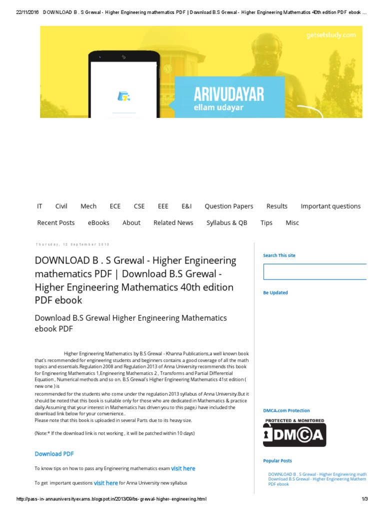 Download b s grewal higher engineering mathematics pdf download b s grewal higher engineering mathematics pdf download bpdf e books technology fandeluxe Images