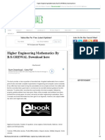 Higher Engineering Mathematics by B.S
