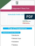 MCR Kabachnik Fields Reaction