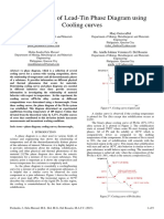 Determination of Lead-Tin Phase Diagram using Cooling Curves