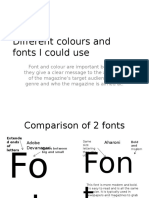 Different Colours and Fonts I Could Use - Lydia Rosado