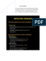 CASO CLÍNICO infeccion urinaria