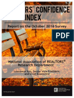 REALTORS® Confidence Index October 2016