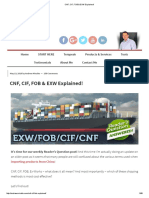 Cnf, Cif, Fob & Exw Explained!
