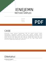 Menejemen - Metode Simplex Kel 4 (Soal No 7)
