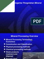 Pengantar Teknik Pengolahan Mineral