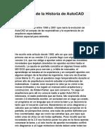 La Historia de La Historia de AutoCAD