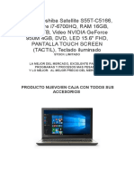 Laptop Toshiba Satellite S55T