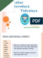 Modals - For Upto Class 10- KK
