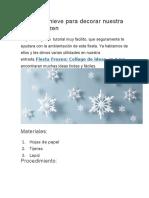 Copos de Nieve Para Decorar Nuestra Fiesta Frozen