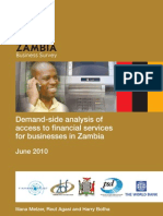 Demand-Side Analysis of Access to Financial Services for Businesses in Zambia - ZBS July 2010