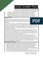 teaching sem-  professional growth plan