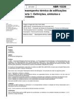 NBR 15220 - Desempenho Térmico de Edificações
