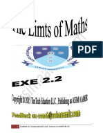 The Limts Maths ... EXE 2.2