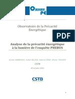 Rapport de l'Observatoire de la précarité énergétique