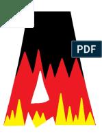 Alemania Letras Olimpiadas Fuego