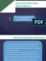 Statistik Bose-einstein Dan Statistic Fermi-diract_rafettania Prihatin (a1c314036)