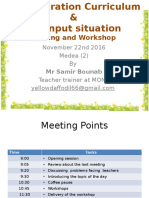 2G and Input Situation Meeting & Workshop November 22nd 2016