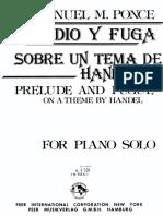 Preludio y Fuga Sobre Un Tema de Handel Ponce