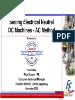 Setting Neutral via AC Curve Method on DC Machines - Flander