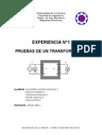 Informe Maquinas Electricas Nº1