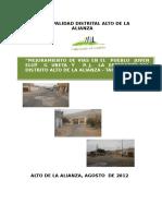 Perfil Mejoramiento de Vias Pueblo Joven Eloy g Ureta y La Esperanza