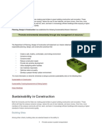 Planning Design Construction - Sustainability in Construction