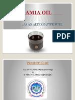 PONGAMIA OIL Powerpoint Presentation