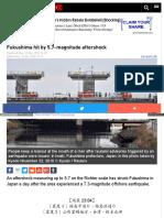 Www Rt Com News 367811 Fukashima Earthquake Aftershock Magni