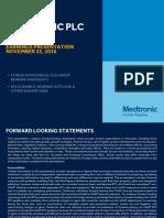 Medtronic Q2 FY17 IR Presentation