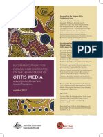 Recommendation for Clinical Guidelines Otitis Media