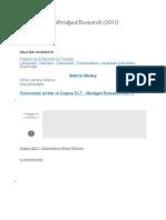 Dogme ELT Abridged Research (2011)