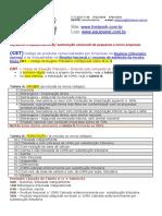 Tabela de Correlacao e Conversao de CST e CSOSN