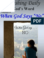 """When God Says """"No""""  December 2016"""