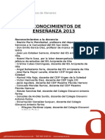 Reconocimientos_Ensenanza_2013